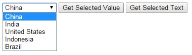 DropDown List Example