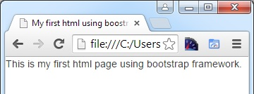 First html page result