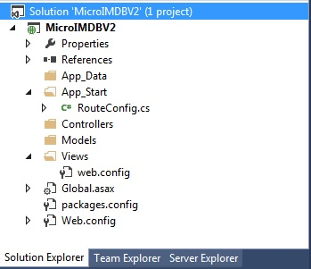 Solution - Folder structure